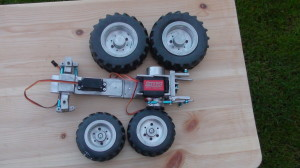 tractor chassy for bruder body 1/16 scale
